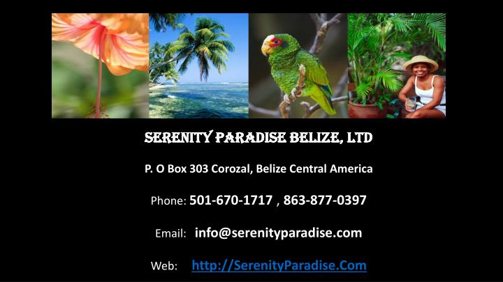 Serenity Paradise Belize, Ltd