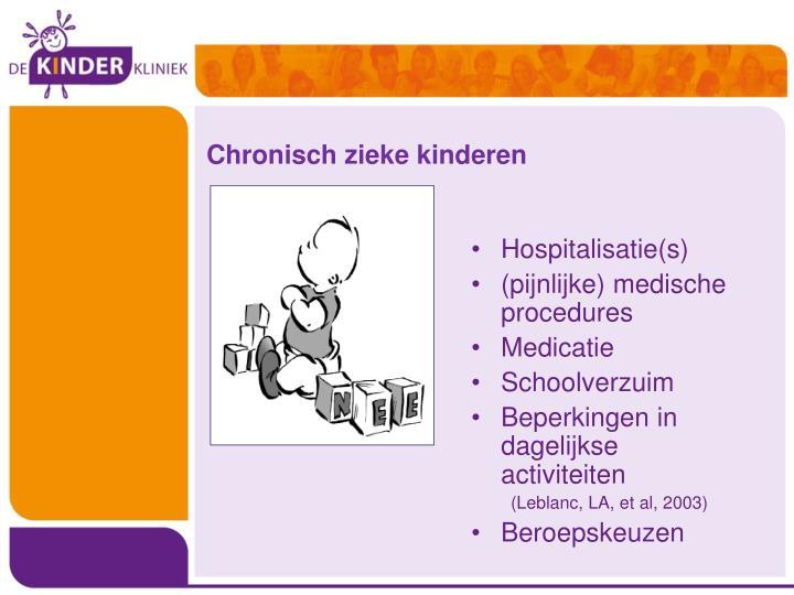 Chronisch zieke kinderen