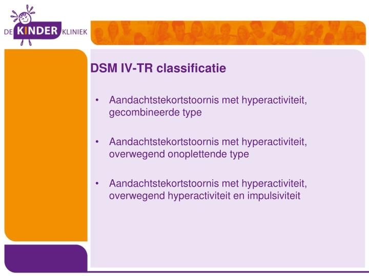 DSM IV-TR classificatie