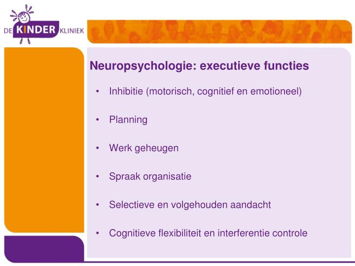 Neuropsychologie: executieve functies