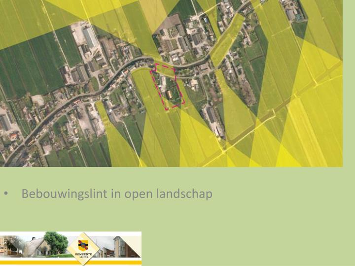 Bebouwingslint in open landschap