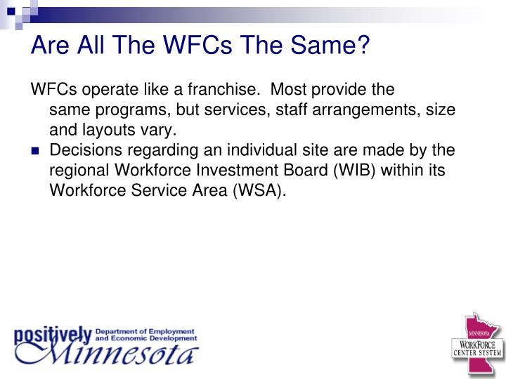 Are All The WFCs The Same?
