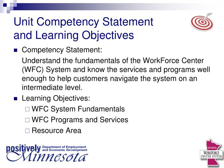 Unit Competency Statement
