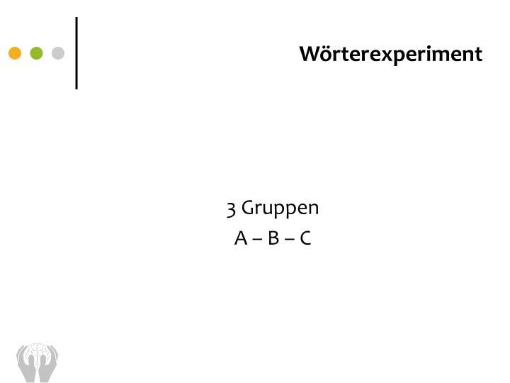 Wörterexperiment