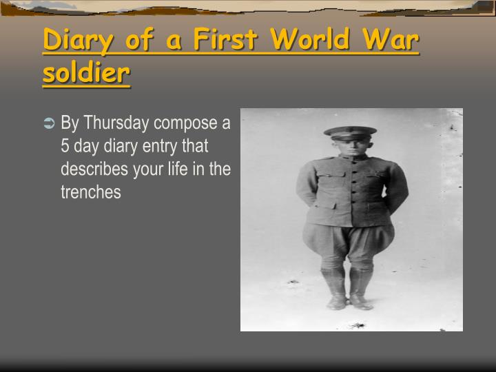 world war 1 life in the trenches soldiers diary 2 lessons on trench life in ww1 including why they were used and what living in  them  lesson-6-extracts-from-soldiers-diaries-evidencedoc.