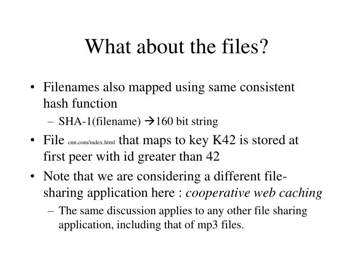 What about the files?