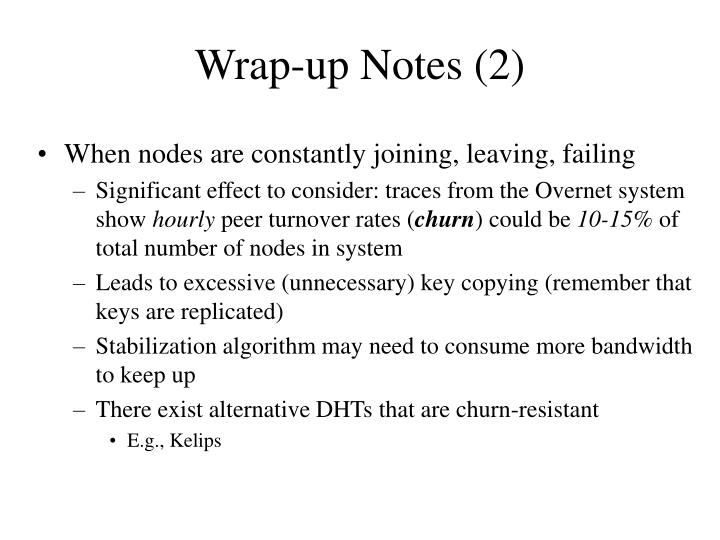 Wrap-up Notes (2)