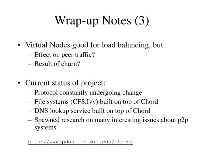 Wrap-up Notes (3)