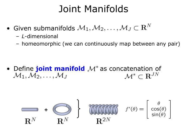 Joint Manifolds