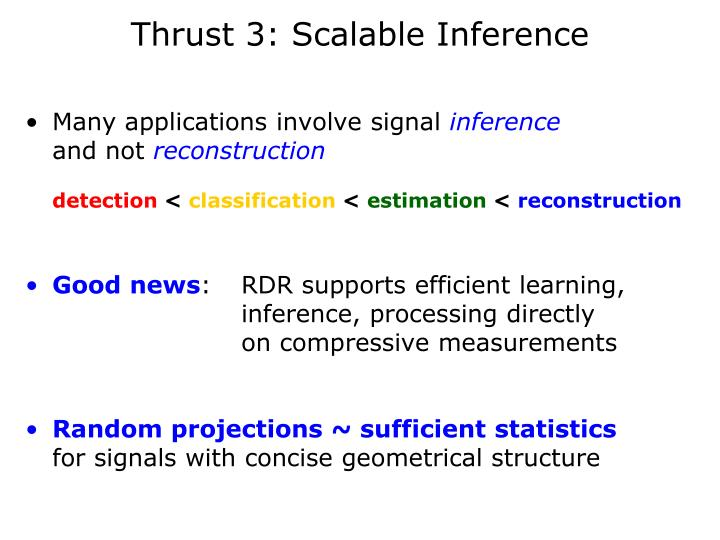 Thrust 3: Scalable Inference