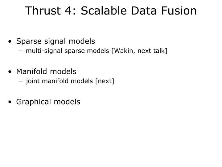 Thrust 4: Scalable Data Fusion