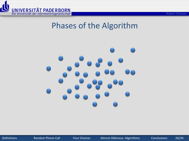 Phases of the Algorithm
