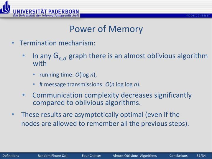Power of Memory