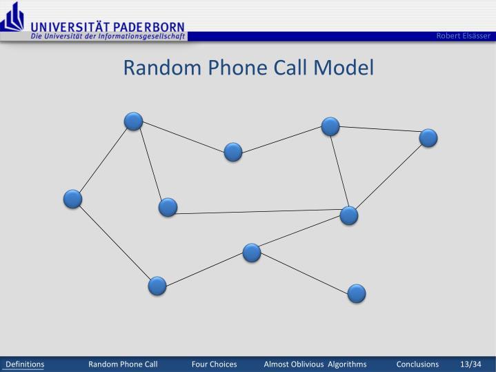 Random Phone Call Model