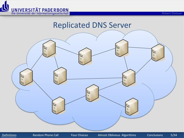 Replicated DNS Server