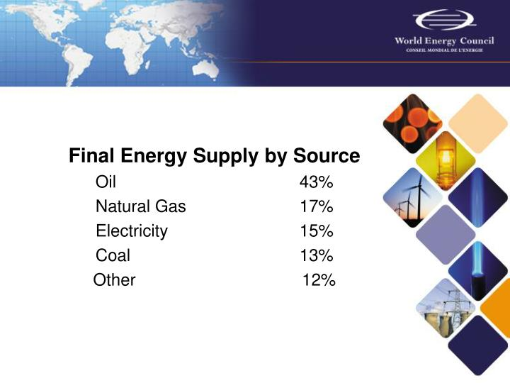 Final Energy Supply by Source