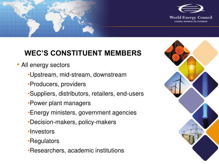 WEC'S CONSTITUENT MEMBERS