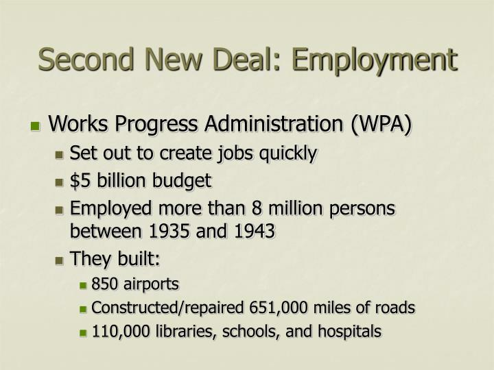 Second new deal employment