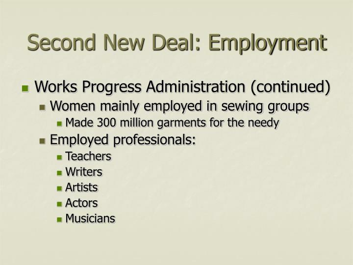 Second New Deal: Employment