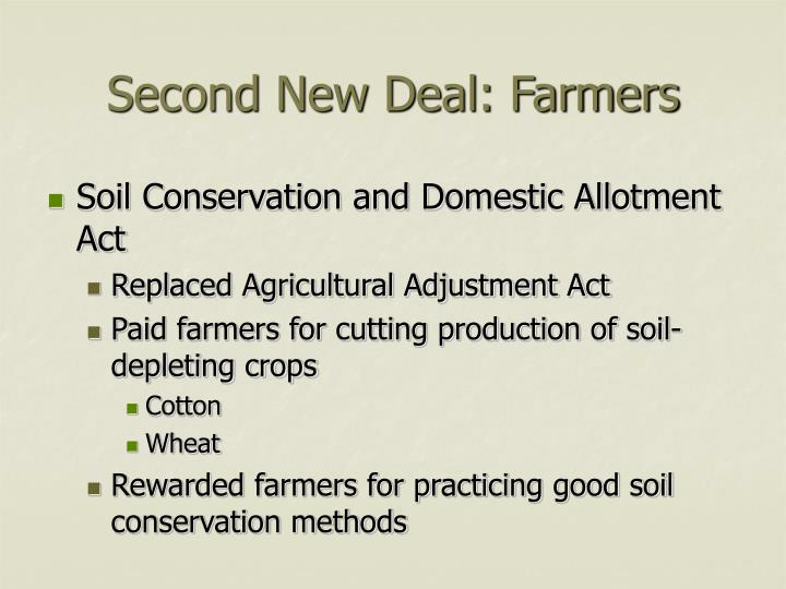 Second new deal farmers