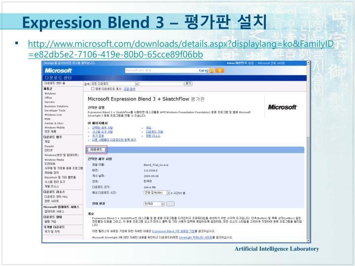 Expression Blend 3 –