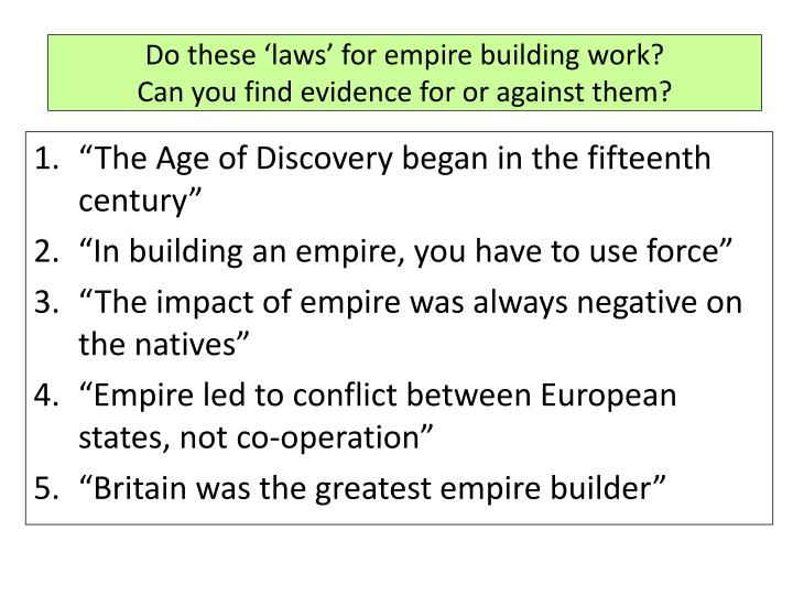 Do these 'laws' for empire building work?