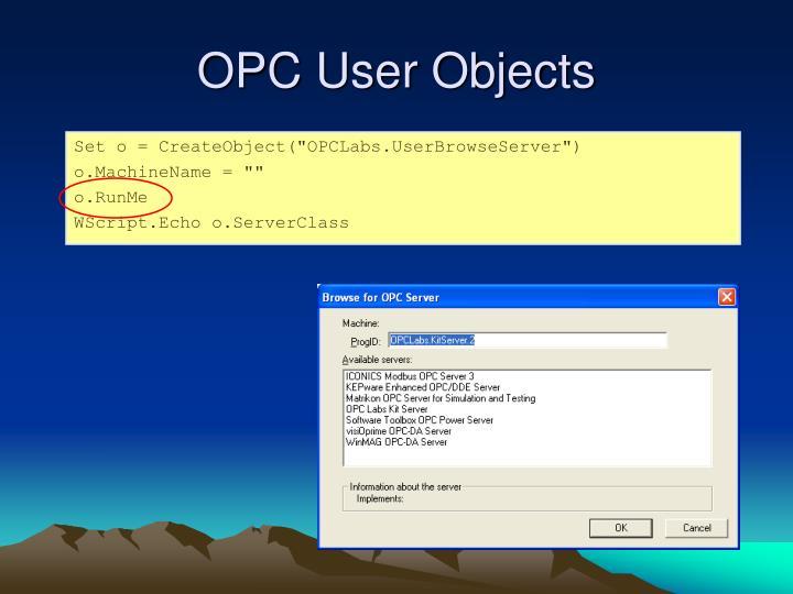 OPC User Objects