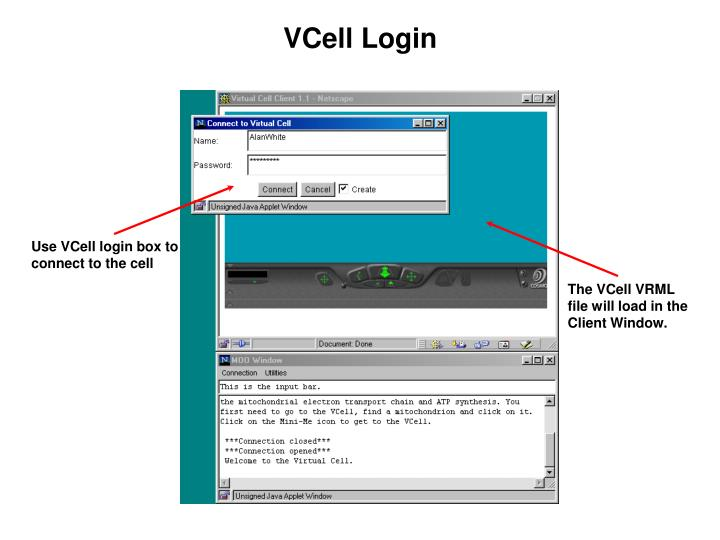 VCell Login