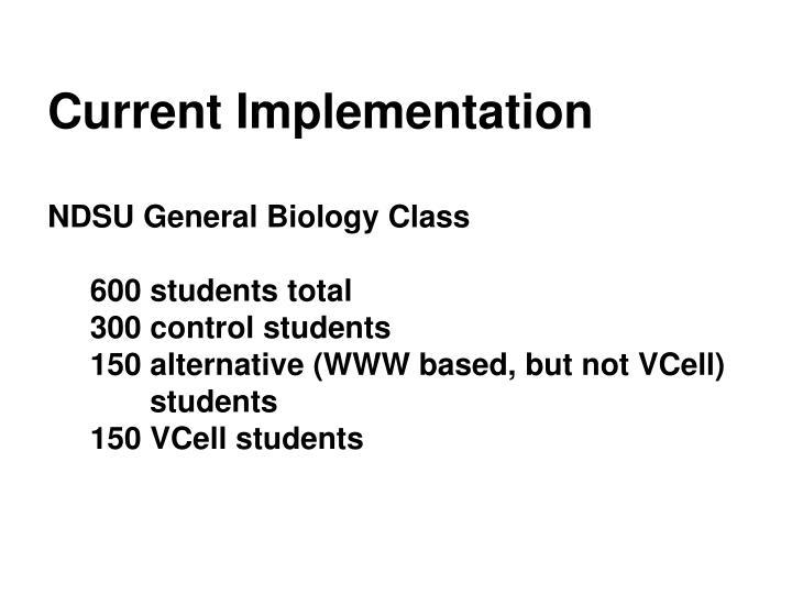 Current Implementation