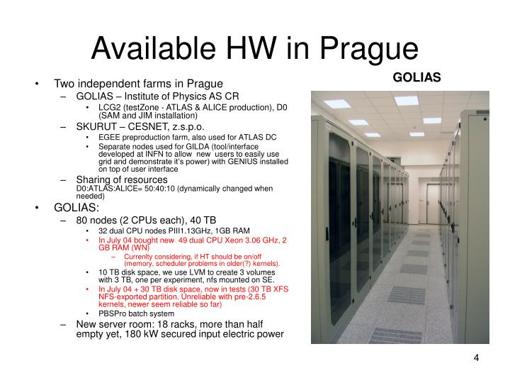 Available HW in Prague