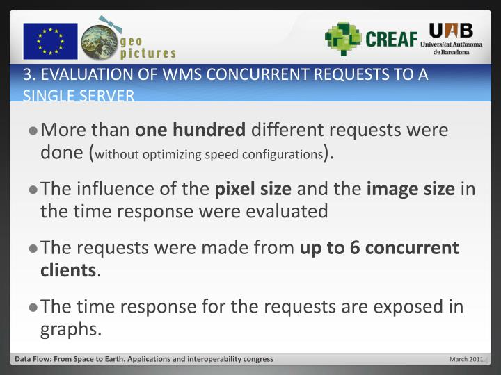 3. EVALUATION OF WMS CONCURRENT REQUESTS TO A