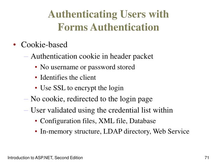 Authenticating Users with