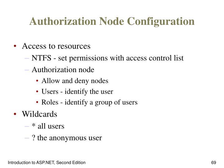 Authorization Node Configuration