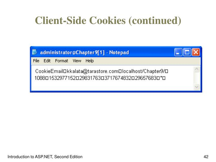 Client-Side Cookies (continued)