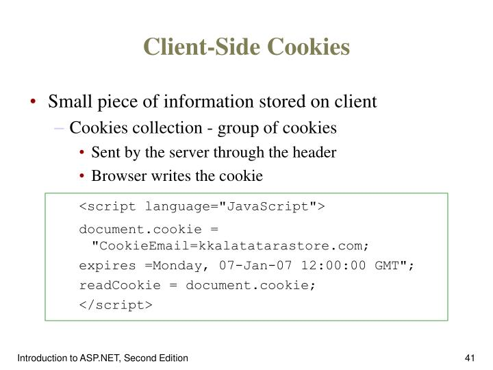 Client-Side Cookies