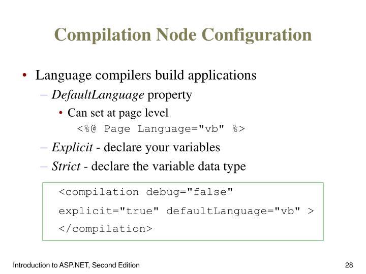 Compilation Node Configuration