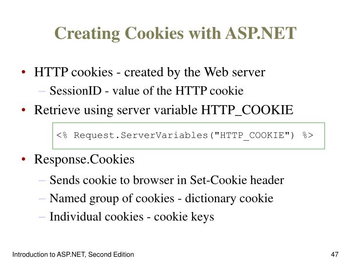 Creating Cookies with ASP.NET