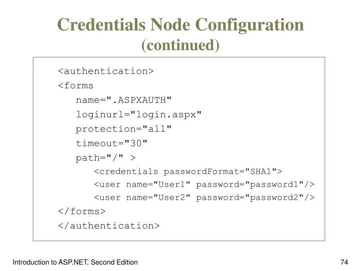 Credentials Node Configuration