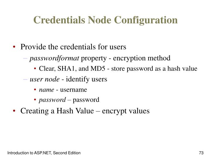 Credentials Node Configuration