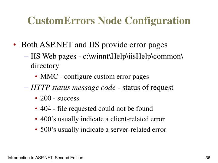 CustomErrors Node Configuration