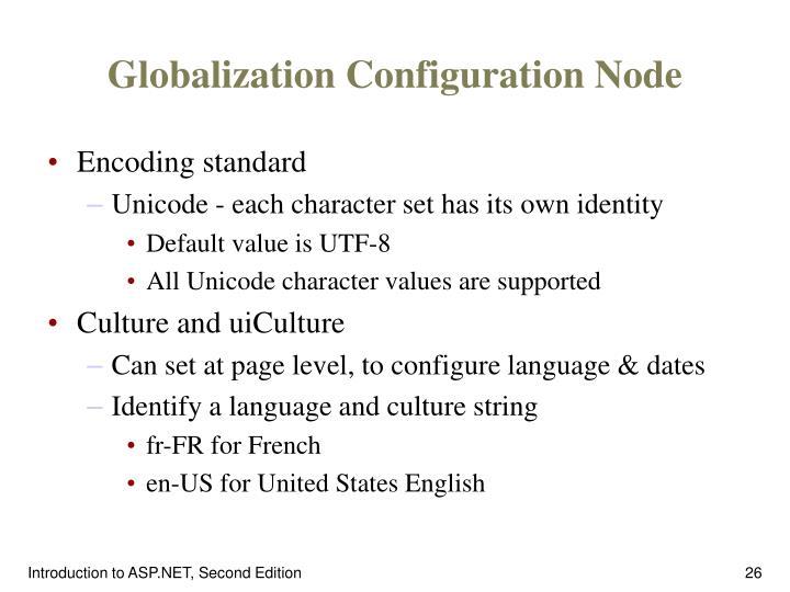 Globalization Configuration Node