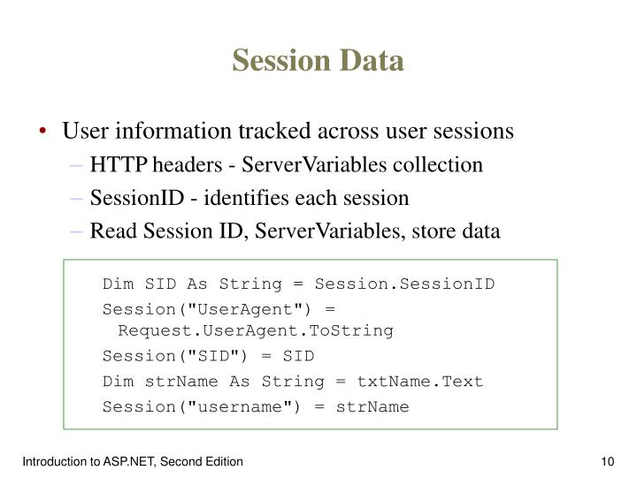 Session Data