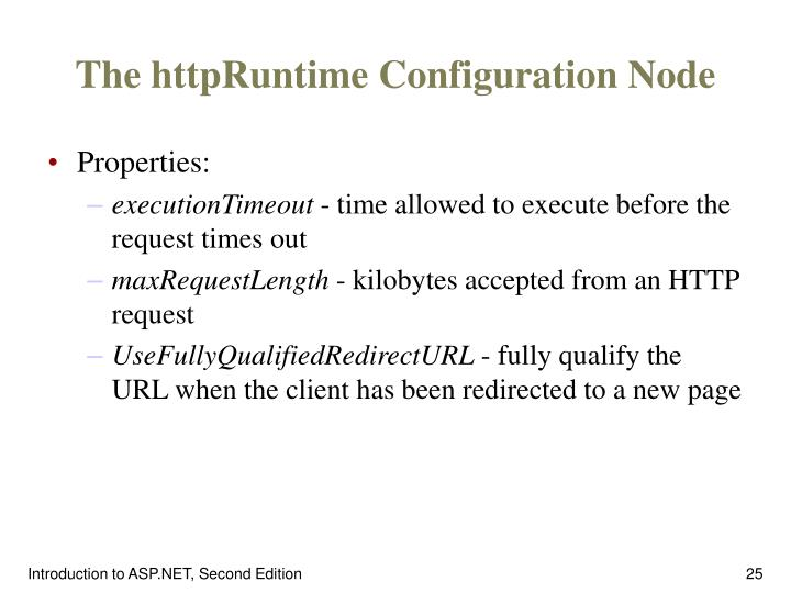 The httpRuntime Configuration Node