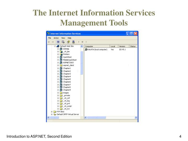 The Internet Information Services Management Tools