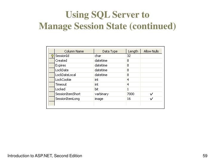 Using SQL Server to