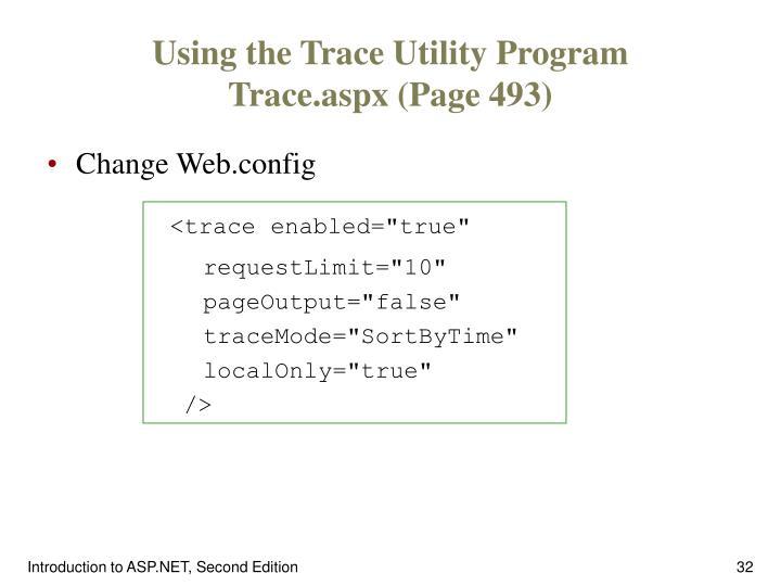 Using the Trace Utility Program