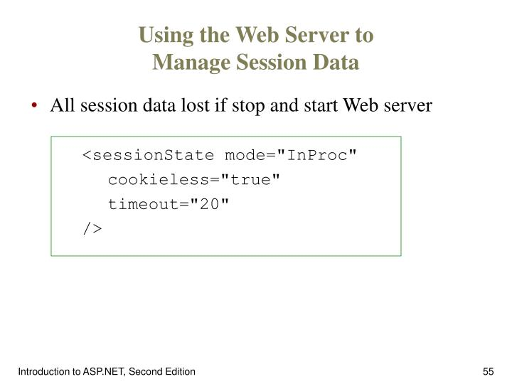 Using the Web Server to