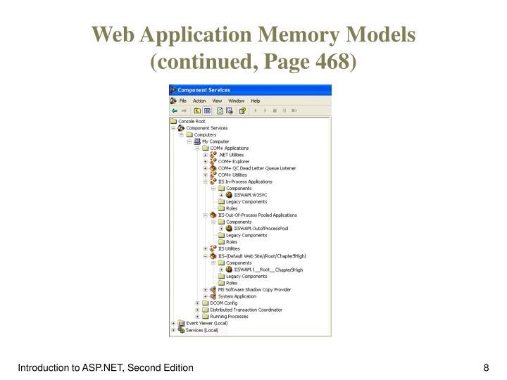 Web Application Memory Models