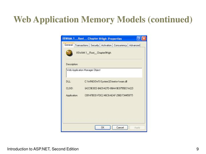 Web Application Memory Models (continued)