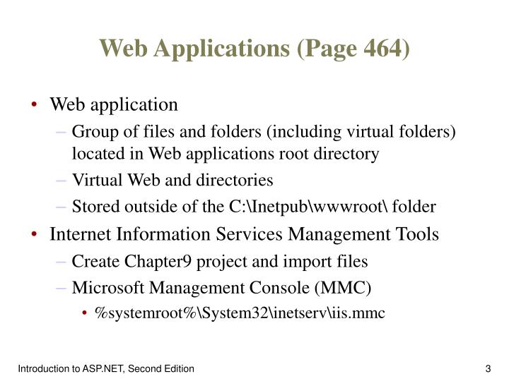 Web Applications (Page 464)